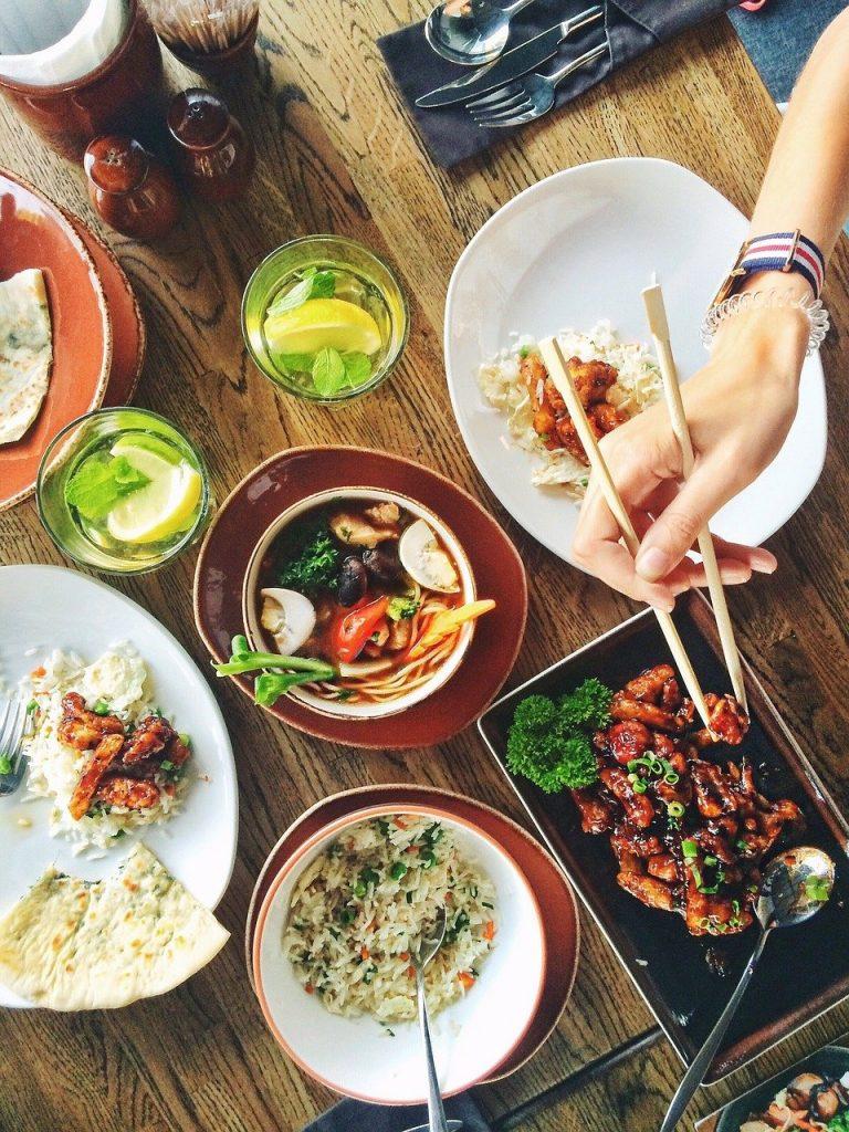 food, dishes, restaurant